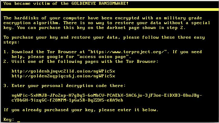 Goldeneye-ransomware