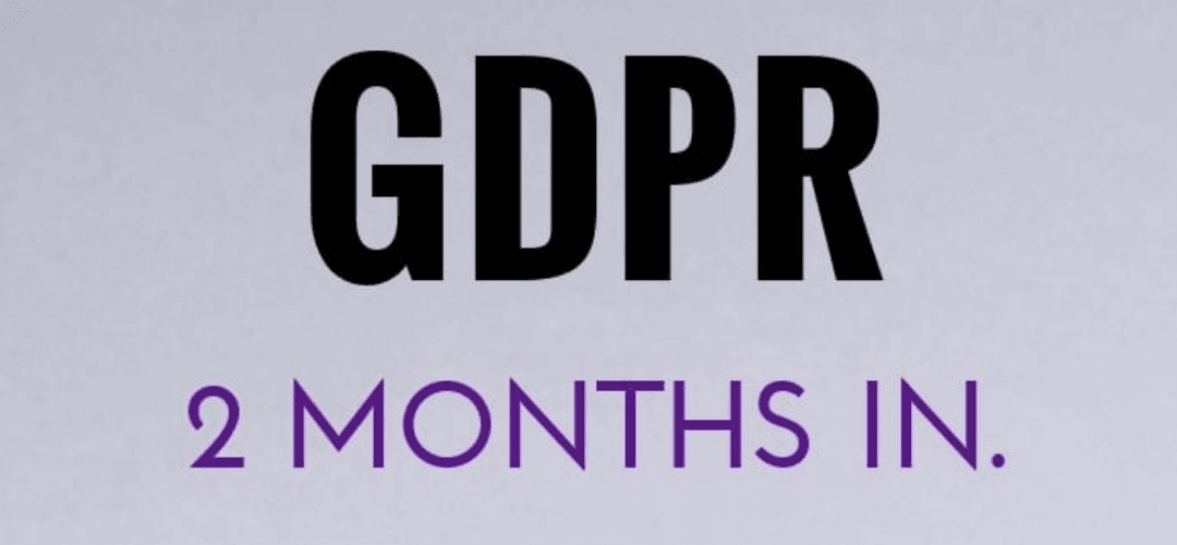 What happened during the first 26 days of the GDPR?