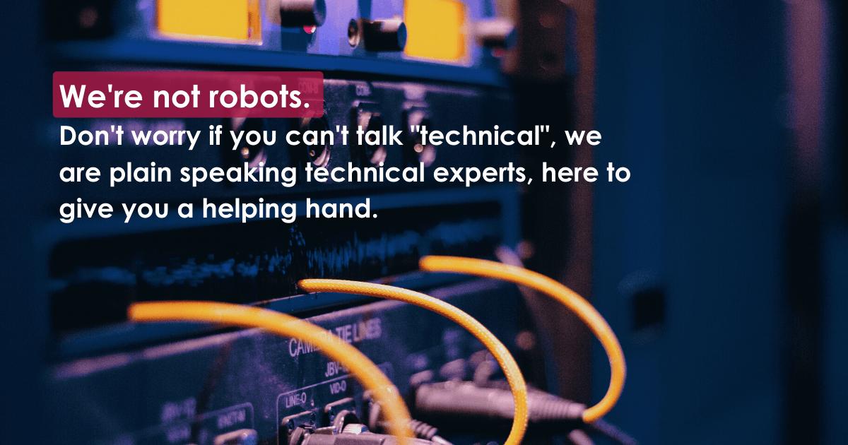 we're not robots – blog post
