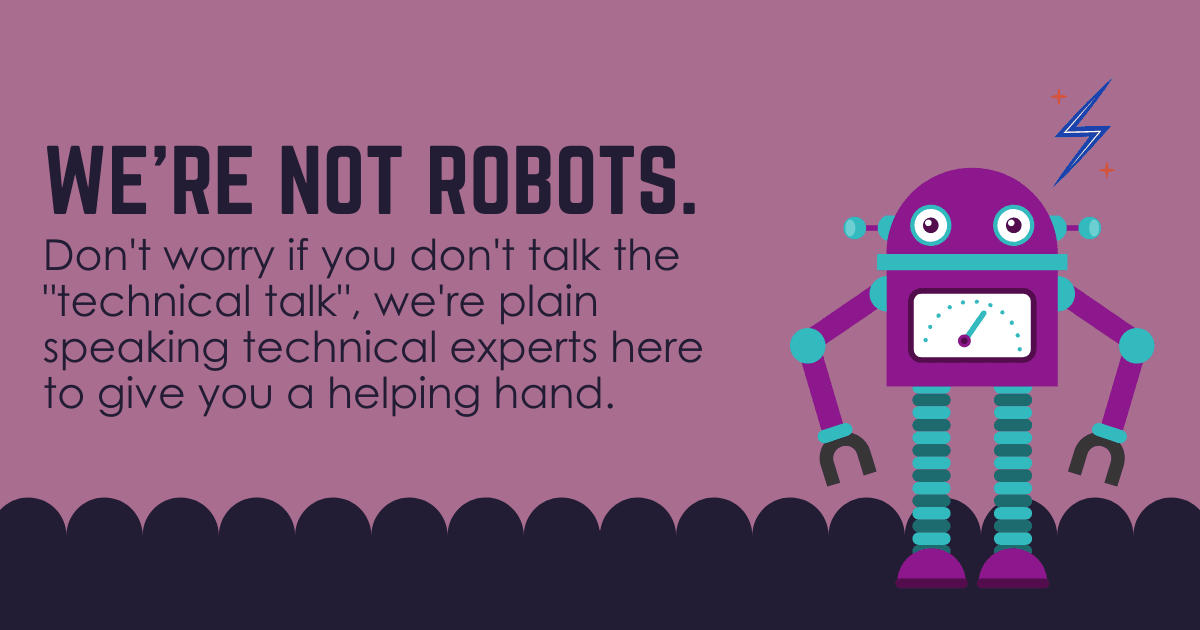 we're not robots – blog post