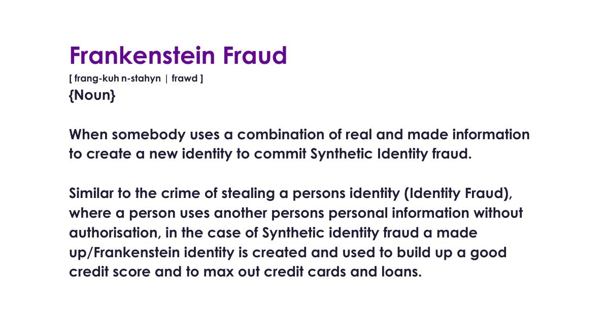 Frankenstein Fraud Definition