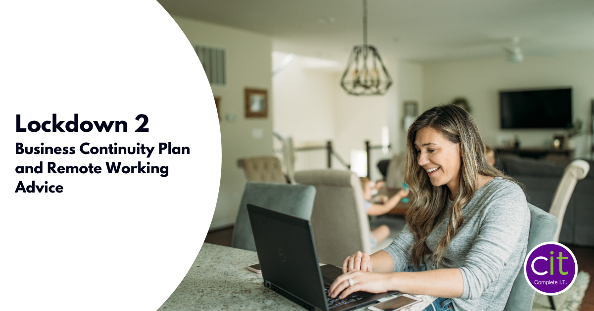 Lockdown 2 Business Continuity Plan and Remote Working Advice