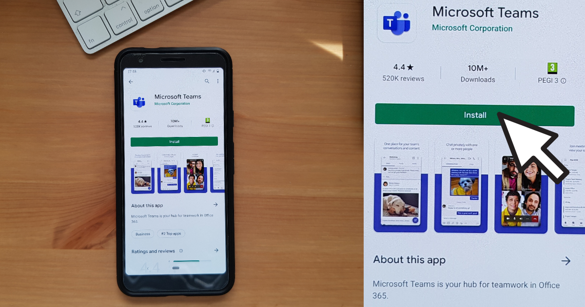 How to download the Microsoft Teams Mobile App