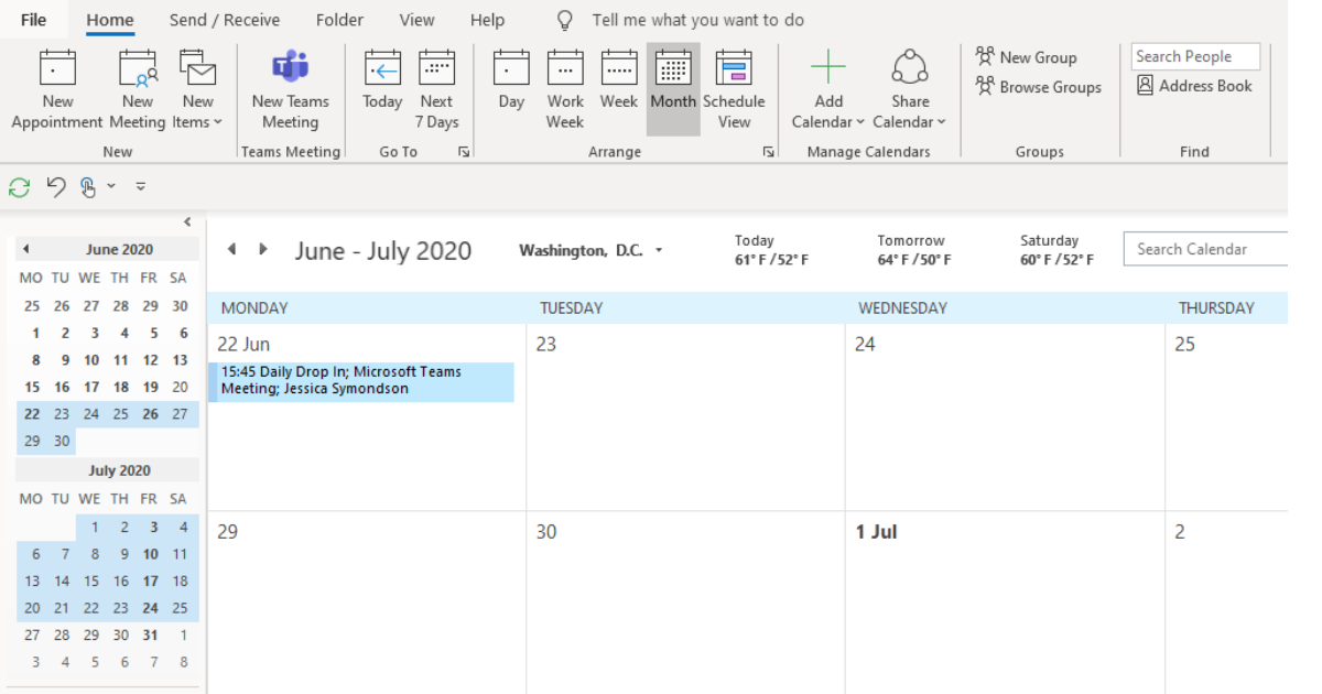 Access your Microsoft Teams Meetings via your Outlook Calendar