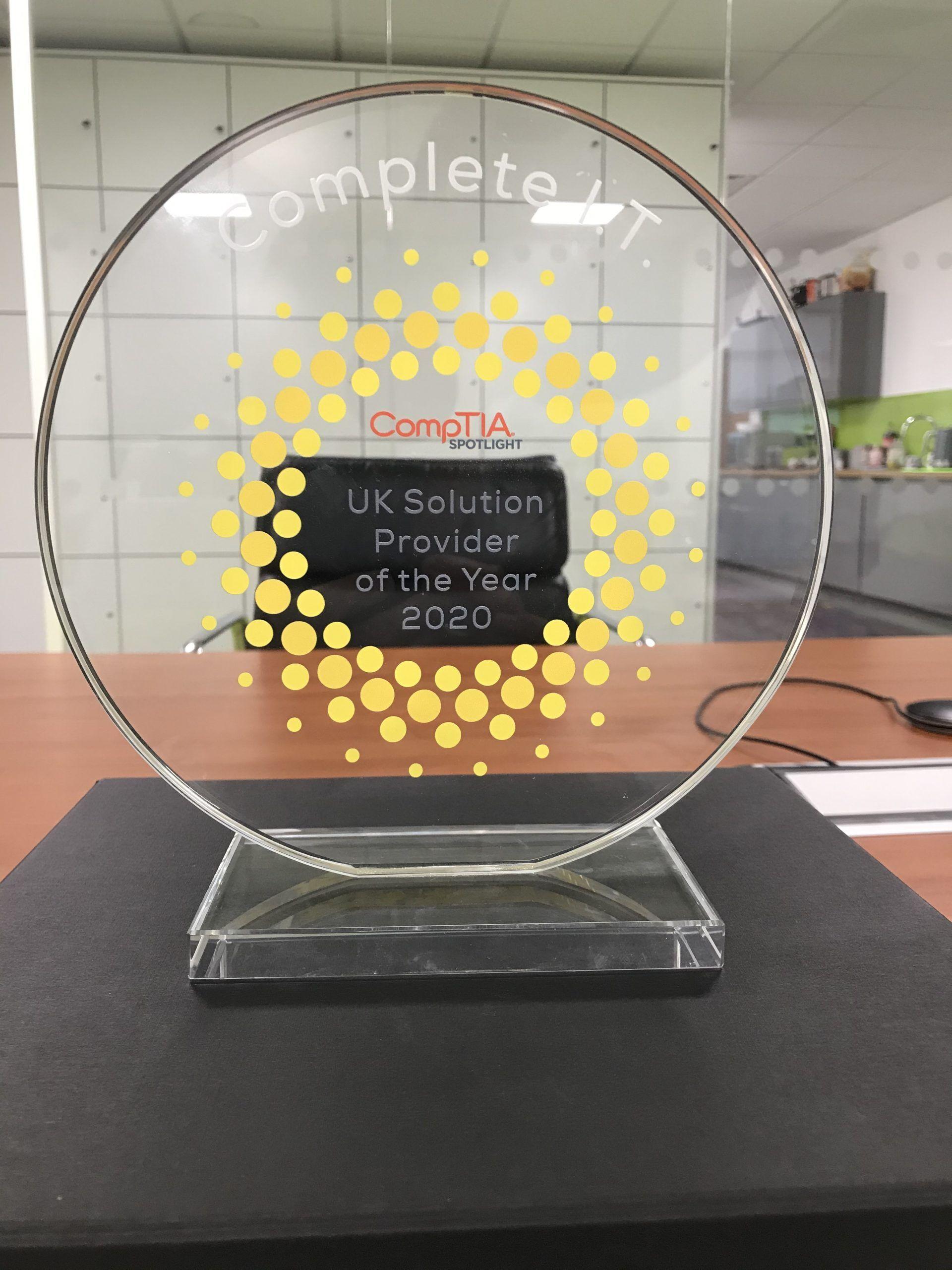 Complete I.T. wins Comptia Award
