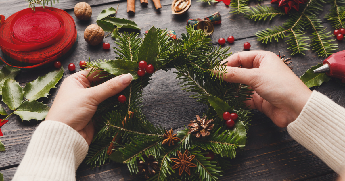 Create a Christmas Wreath at your Christmas Party