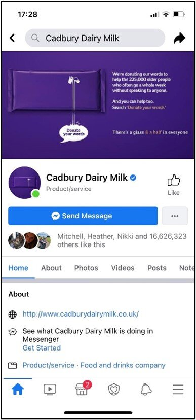 Cadbury Rewards Scam 2