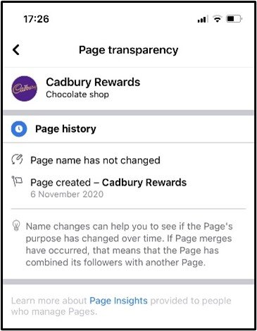 Page Transparency on Facebook