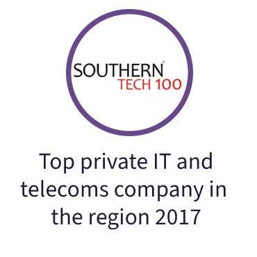Top private IT and telecoms-company in the region 2017