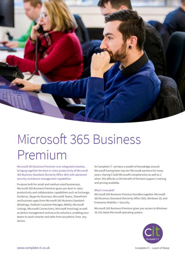 Microsoft 365 Business Premium Datasheet