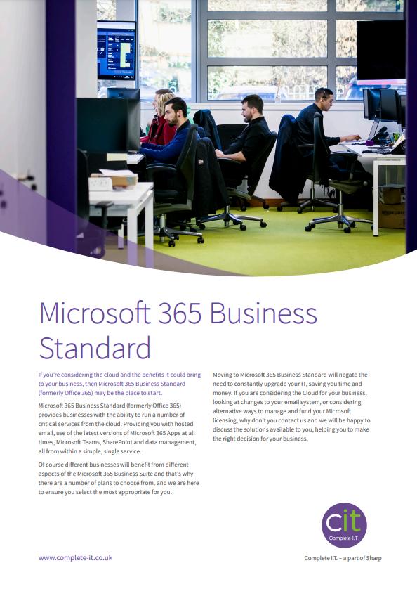Microsoft 365 Business Standard Datasheet