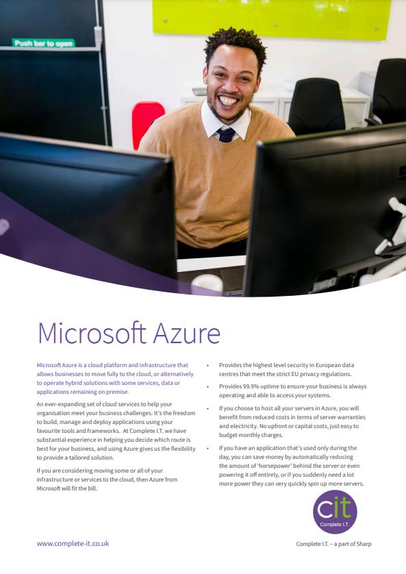 Microsoft Azure Datasheet